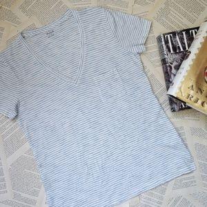 NWT MADEWELL Whisper Cotton V-Neck Tee Shirt